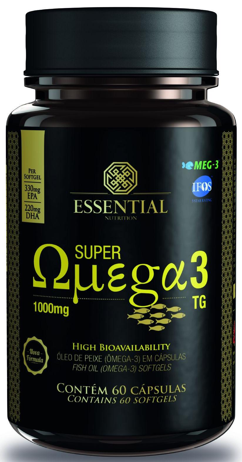 e9b71881d Super Ômega 3 60 cápsulas 1000mg - Essential Nutrition