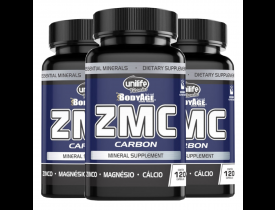 ZMC Carbon Zinco Magnésio Cálcio 120 Cápsulas 950mg - Kit com 3