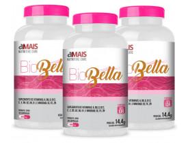 Bio Bella Suplemento para Cabelo e Unha 30 cápsulas 480mg Kit com 3