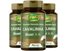 Cavalinha MuZei Vegana MTC 60 cápsulas de 500mg Kit com 3