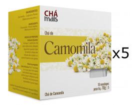 Chá de Camomila Kit com 5 Caixas de 10 Sachês cada