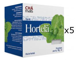 Chá de Hortelã Kit com 5 Caixas de 10 Sachês cada