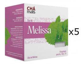 Chá de Melissa Kit com 5 Caixas de 10 Sachês cada