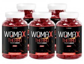Womax Thermo Emagrecimento Termogênico 60 cápsulas de 500mg Kit com 5