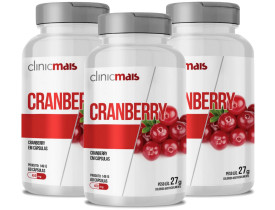 Cranberry 60 cápsulas de 450mg Kit com 3