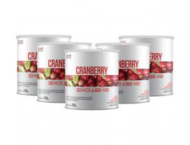 Cranberry Instantâneo Zero Açúcar Sabor Frutas Vermelhas Kit com 5