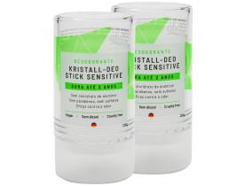 Desodorante Stick Kristall Sensitivo Vegano 120g Kit com 2