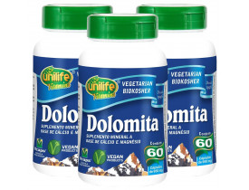 Dolomita Cálcio e Magnésio 60 cápsulas de 950mg Kit com 3