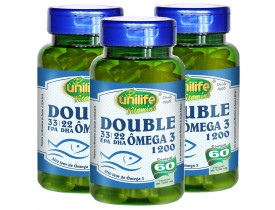 Ômega 3 Double 60 Cápsulas de 1200mg Kit com 3