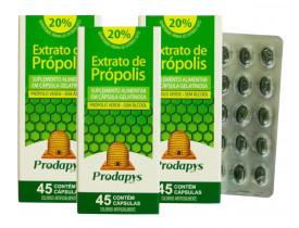 Própolis Verde - Suplemento Alimentar 45 cápsulas Kit com 3