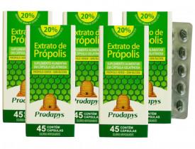 Própolis Verde - Suplemento Alimentar 45 cápsulas Kit com 5