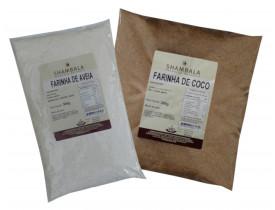 Farinha de Aveia e Farinha de Coco 300g cada Kit Especial