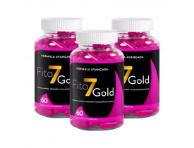 Emagrecedor Fito 7 Gold 60 cápsulas de 640mg Kit com 3