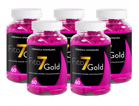 Emagrecedor Fito 7 Gold 60 cápsulas de 640mg Kit com 5