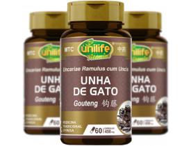 Unha de Gato Gou Teng Vegana 60 cáps de 450mg kit com 3
