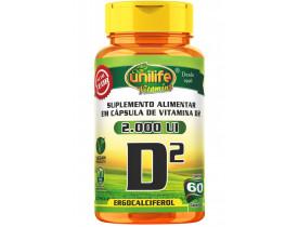 Vitamina D2 Ergocalciferol 60 cápsulas de 470mg