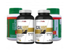 Vitamina K2 D3 Cálcio Kit com Cloreto de Magnésio