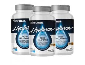 Ácido Hialurônico Hyaluron+ 30 cápsulas de 500mg Kit com 3 frascos