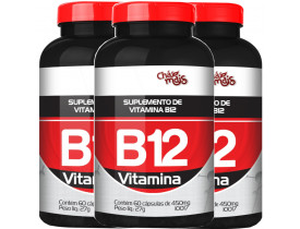 Vitamina B12 60 cápsulas de 500mg Kit com 3