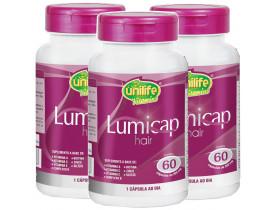 Lumicap Hair fortalecimento capilar 60 cápsulas 500mg Kit com 3