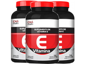 Vitamina E 60 capsulas de 400mg Kit com 3