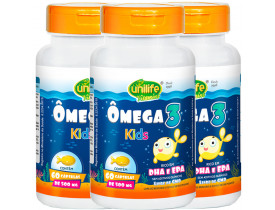 Ômega 3 Kids 60 cápsulas de 500mg Kit com 3