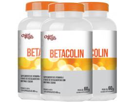 Betacolin Vitamina A Colina e Biotina 120 caps Kit com 3