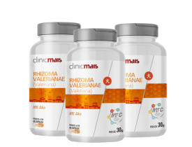 Rhizoma Valeriana (MTC) 60 cápsulas de 500mg Kit com 3