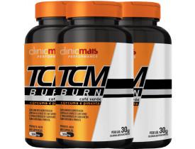 TCM BURN Café Verde Cúrcuma e Pimenta 60 cápsulas de 500mg Kit com 3