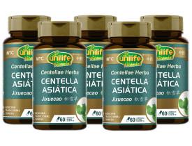 Centella Asiática (MTC) 60 Cápsulas de 570mg Kit com 5