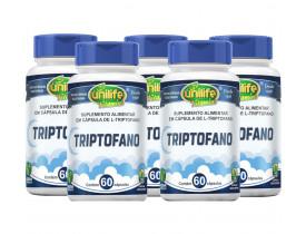 L-Triptofano Vegano 60 Cápsulas de 300mg  Kit com 5