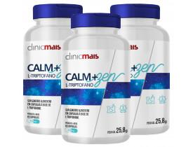 L-Triptofano Calm + Zen 60 cápsulas de 430mg Kit com 3