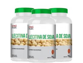 Lecitina de Soja 100 cápsulas de 750mg Kit com 3