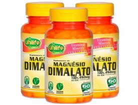 Magnésio Dimalato 60 cápsulas de 600mg Kit com 3 Frascos