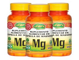 Magnésio Quelato 60 cápsulas de 350mg Kit com 3