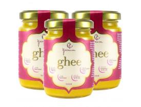 Manteiga Clarificada Ghee Kit com 3 Frascos de 160ml
