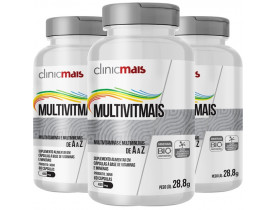 MultiVitMais Multivitaminas de A a Z 60 cápsulas de 480mg Kit com 3