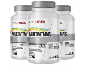 MultiVitMais Multivitaminas de A a Z 60 cápsulas de 480mg Kit com 3