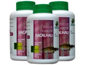Óleo de Fígado de Bacalhau 120 cápsulas de 250mg Kit com 3 Frascos