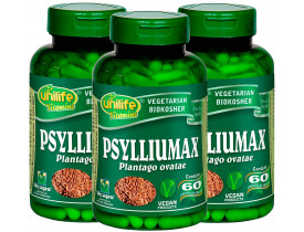 Psylliumax Psyllium Emagrecimento 60 cápsulas 550mg Kit com 3