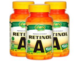 Retinol Vitamina A 60 cápsulas de 500mg Kit com 3