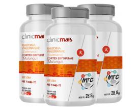 Rhizoma Valeriana e Mulungu (MTC) 60 cápsulas de 480mg Kit com 3 frascos