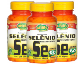 Selênio Quelato Selenometionina 60 cápsulas de 500mg Kit com 3