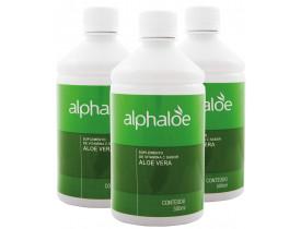 Suco de Aloe Vera Babosa com Vitamina C 500ml Kit com 3 Frascos