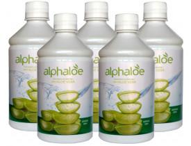 Suco de Aloe Vera Babosa com Vitamina C 500ml Kit com 5 Frascos