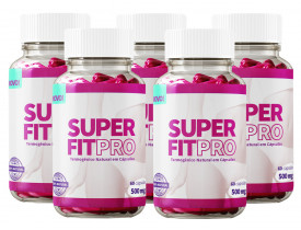 Emagrecedor Super Fit Pro 60 cápsulas 500mg Kit com 5 Frascos