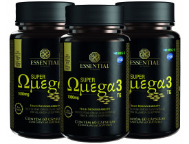 Super Ômega 3 Kit com 3 Frascos - Essential Nutrition