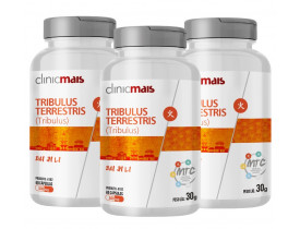 Tribulus Terrestris (MTC) 60 cáspulas de 500mg Kit com 3