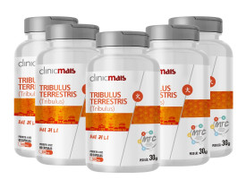 Tribulus Terrestris (MTC) 60 cáspulas de 500mg Kit com 5
