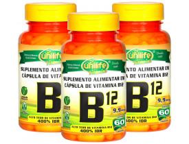 Vitamina B12 Cobalamina Vegana 60 cápsulas de 450mg Kit com 3